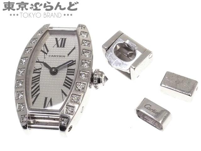 101467787 1円 カルティエ ミニトノーラニエール 純正 ダイヤモンド ベゼル 腕時計 レデ