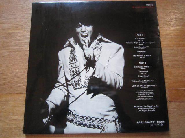 ■ エルヴィス・プレスリー(ELVIS PRESLEY )/  ~ February 1970 - On Stage - / 国内盤LPレコード_画像2