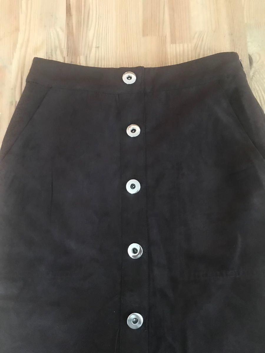スエード調 スカート 新品