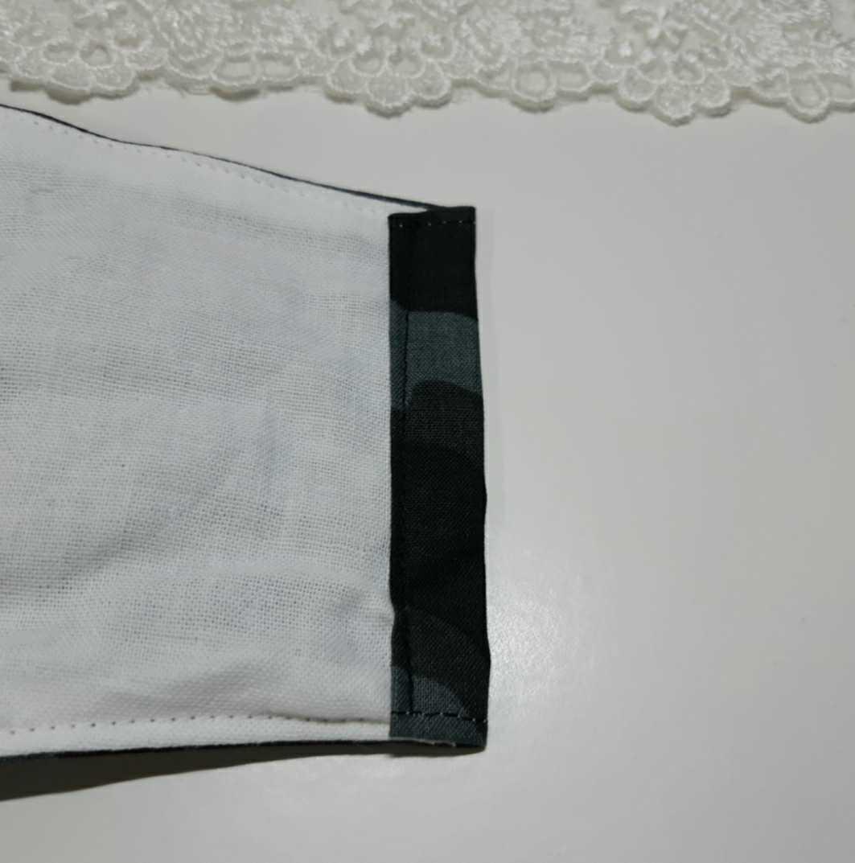 黒 グレー 迷彩柄 立体インナーマスク コットン 綿 ダブルガーゼ ハンドメイド _画像5