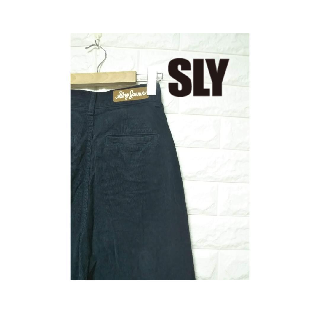SLY JEANS スライジーンズ コーデュロイ ワイドパンツ S SS1189_画像1