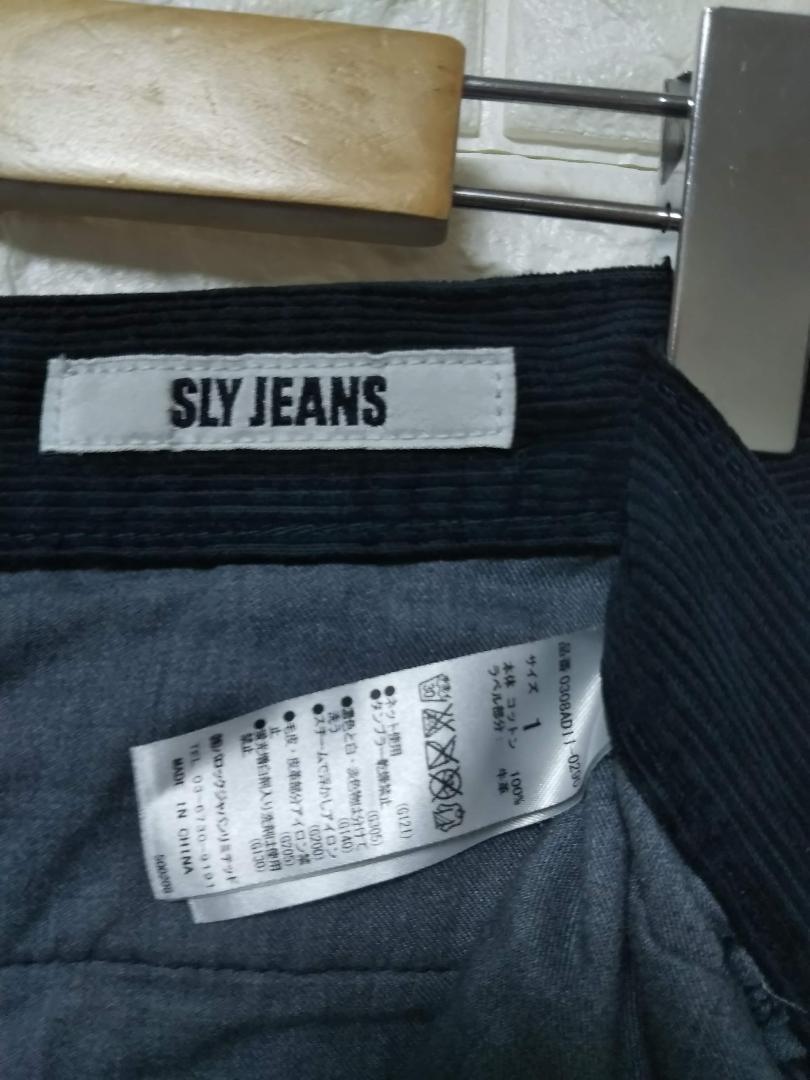 SLY JEANS スライジーンズ コーデュロイ ワイドパンツ S SS1189_画像4