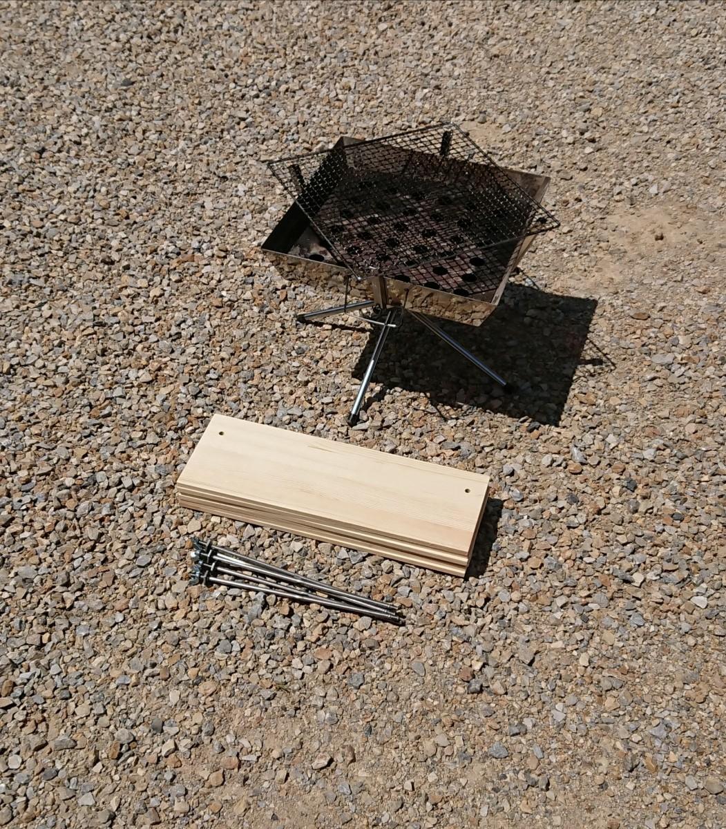BBQ ヘキサテーブル 90×90cm 【組立簡単、軽量、収納コンパクト】