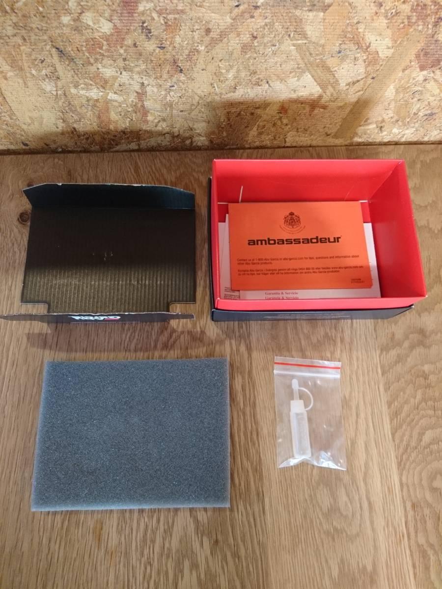 展示未使用品 全世界100台限定 シリアルナンバー 『018』アンバサダー 2500CDL ティールグリーン アブ ABU 渓流 ベイトフィネス カスケット_中の緩衝材等も全て揃っています。