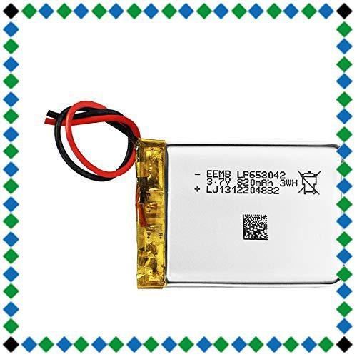 3.7v 充電式 リチウムイオン電池 リチウムポリマー電池 充電池 角形 653042 820mAh 二次電池 UL適合品 Blu_画像1