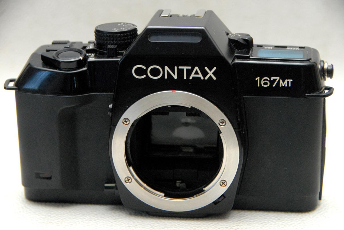 CONTAX コンタックス 昔の高級一眼レフカメラ 167MTボディ 希少な作動品 (腐食無し)