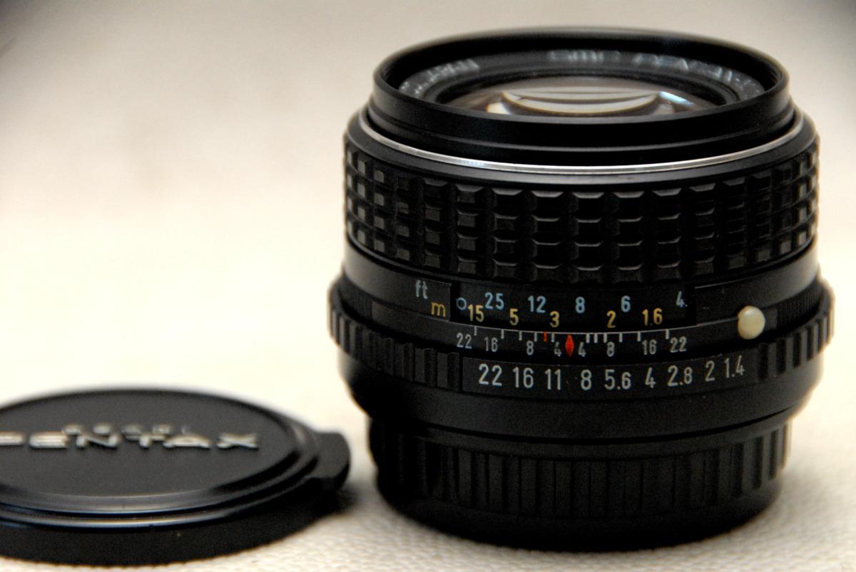 PENTAX-M ペンタックス 純正 Kマウント専用 50mm 高級単焦点レンズ 1:1.4 綺麗な作動品