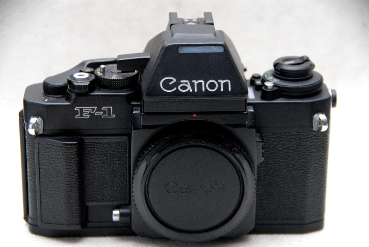 Canon キャノン 最高峰 一眼レフカメラ NEW F-1 ボディ + AEファインダー付 良好品 (腐食無し)