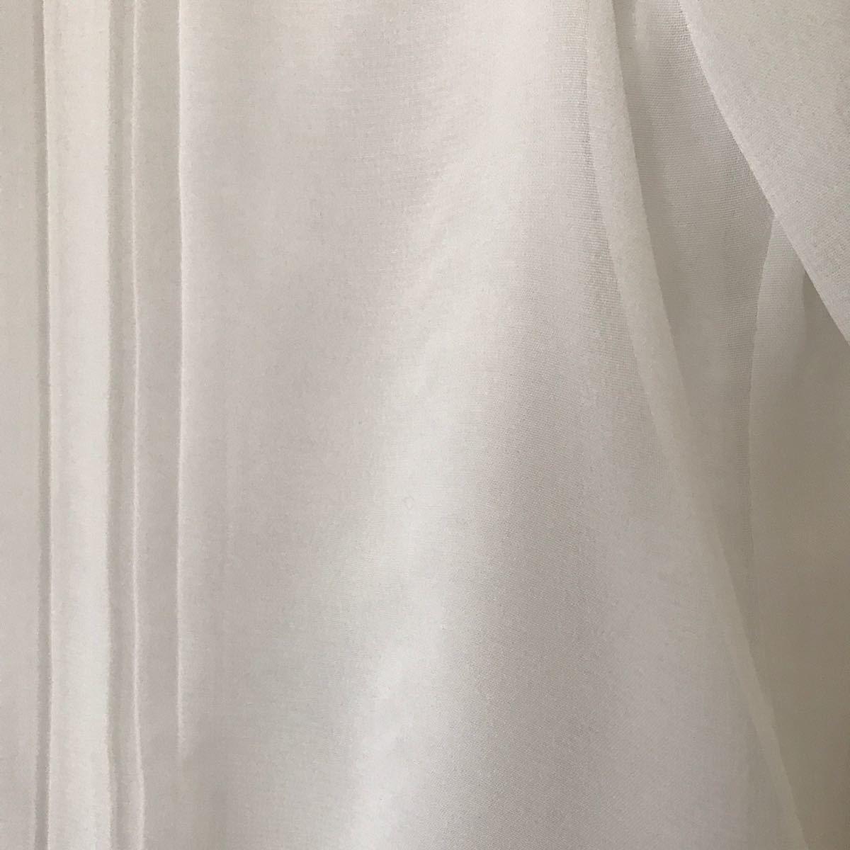 トップス 白ブラウス 入学式 卒業式 七分袖