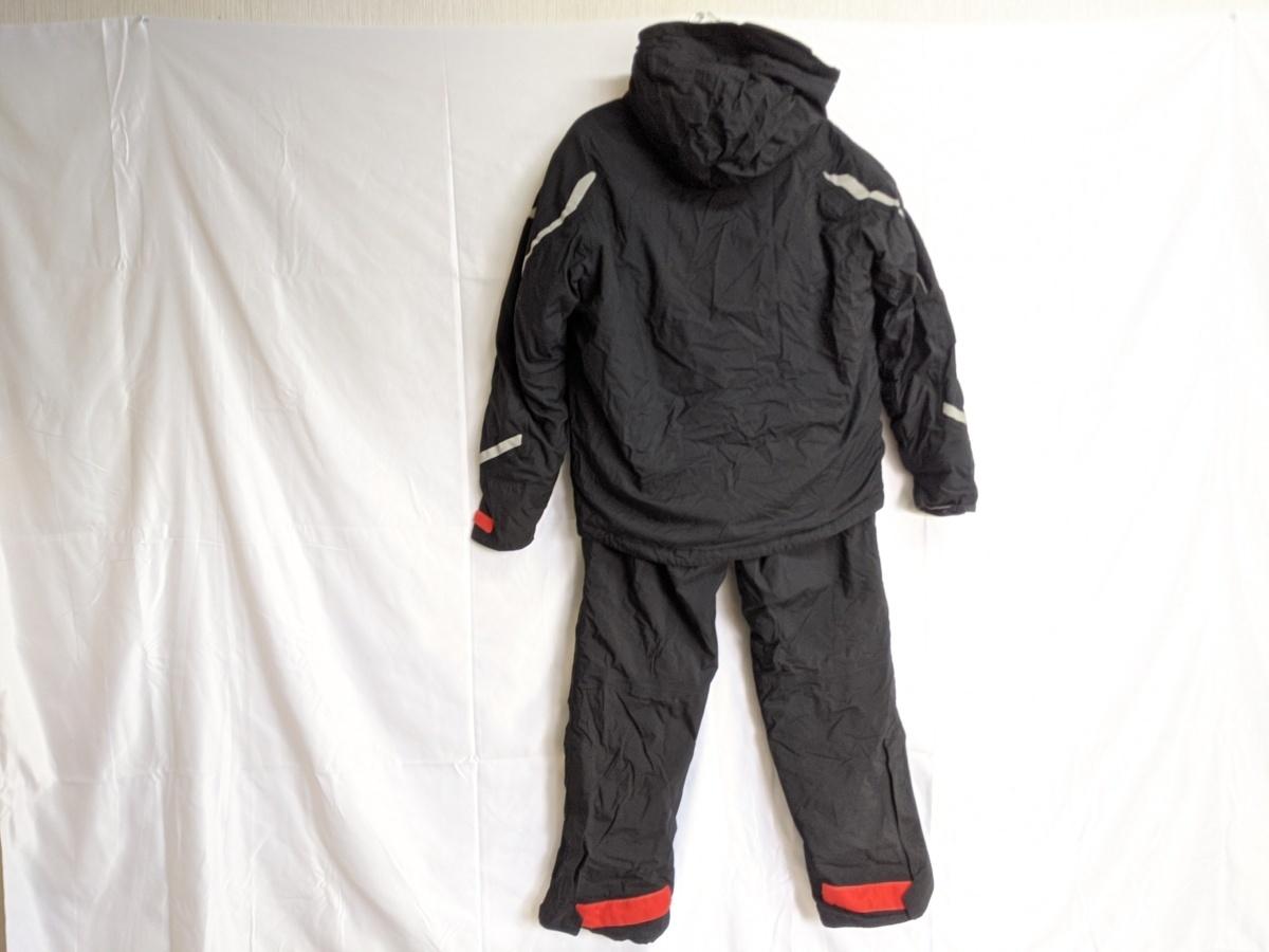 ダイワ レインマックス ハイパーフロント ウィンタースーツ Mサイズ DW-3402 サスペンダーバンド無し 釣り用 防寒着 防水 透湿 上下セット_画像2