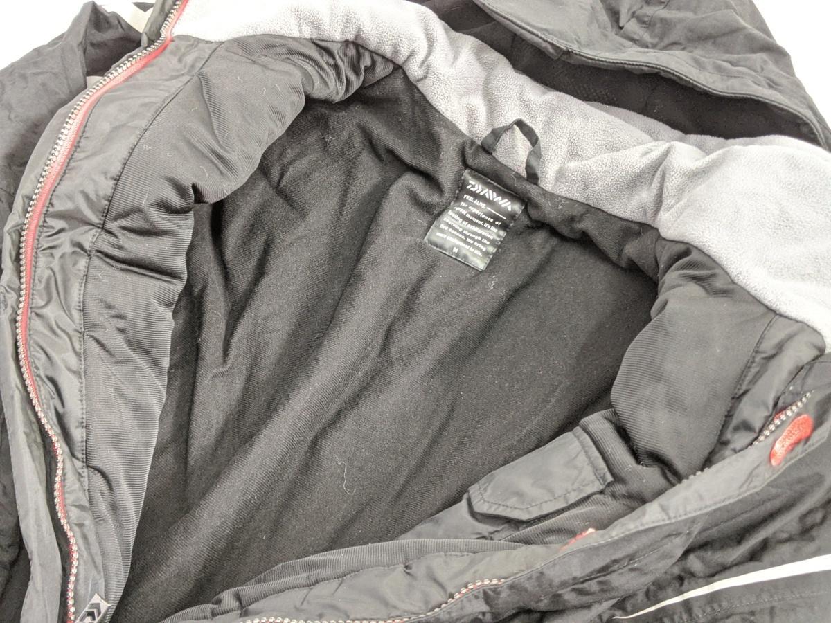 ダイワ レインマックス ハイパーフロント ウィンタースーツ Mサイズ DW-3402 サスペンダーバンド無し 釣り用 防寒着 防水 透湿 上下セット_画像6
