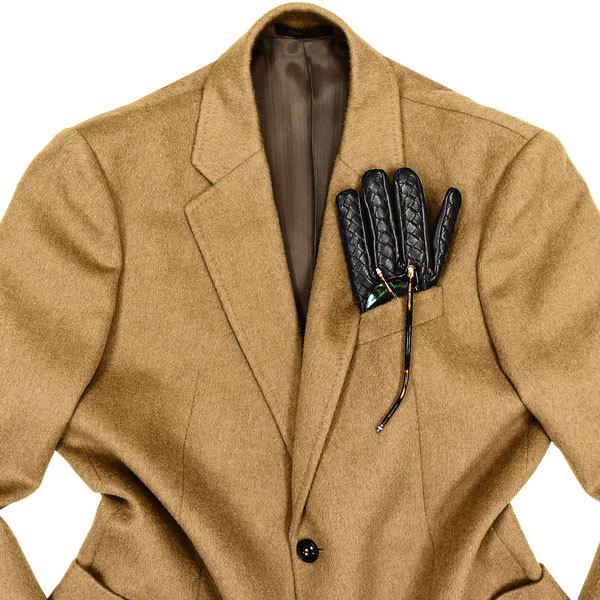 手触り雲上級◎!!!「ARMANI/アルマーニ」秋冬 カシミヤを凌ぐトロトロとした毛並みのキャメルヘアー100%を贅沢に使用した!ジャケット 46_画像2