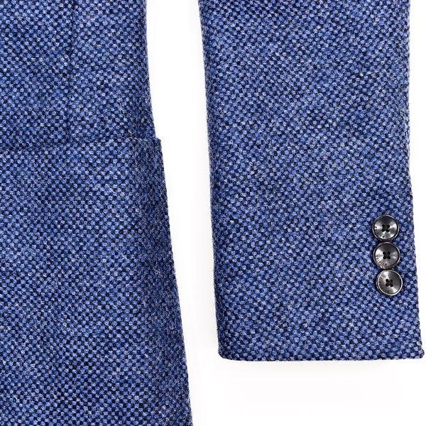 大人の秋冬に◎!!! エディフィス ×【英】ジャミーソンズ社製 本格厚手ツイード素材!今旬英国調/美麗なブルー色◎ ジャケット&ベスト 44_画像6