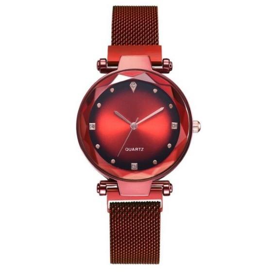 女性 腕時計 ラインストーン クォーツ 時計 レ ディース ウォッチ S2249_Red