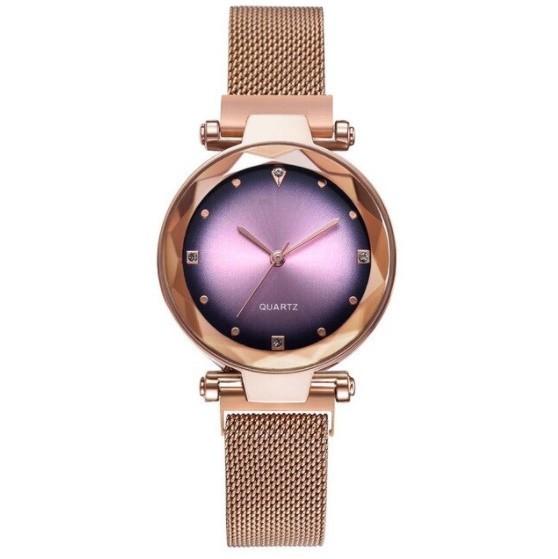 女性 腕時計 ラインストーン クォーツ 時計 レ ディース ウォッチ S2249_Rose Gold