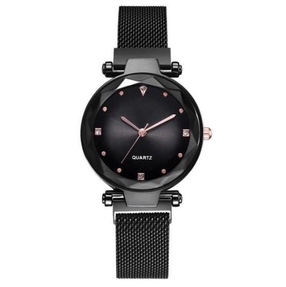 女性 腕時計 ラインストーン クォーツ 時計 レ ディース ウォッチ S2249_Black