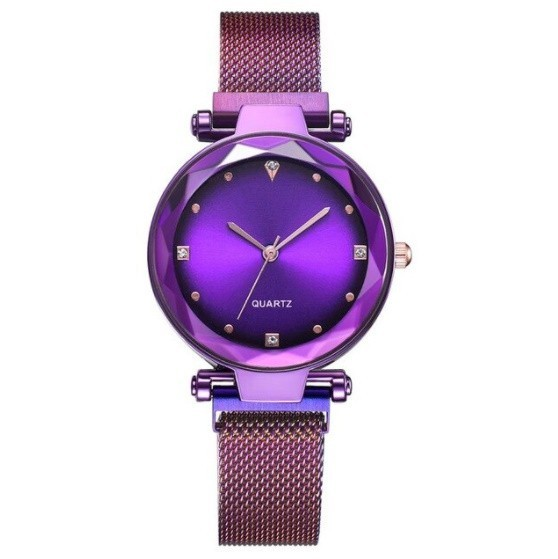女性 腕時計 ラインストーン クォーツ 時計 レ ディース ウォッチ S2249_紫