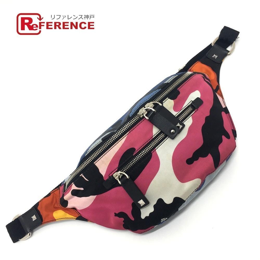 Valentino Garavani QY2B0664TPG Камуфляжная нейлоновая поясная сумка Shuffle Поясная сумка Многоцветная U, Valentino и другие