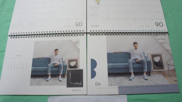 最新 パク・ソジュン ★ ZIOZIA 2021年 卓上 カレンダー 2種 韓国 非売品 梨泰院クラス Park Seo Jun パクソジュン_画像6