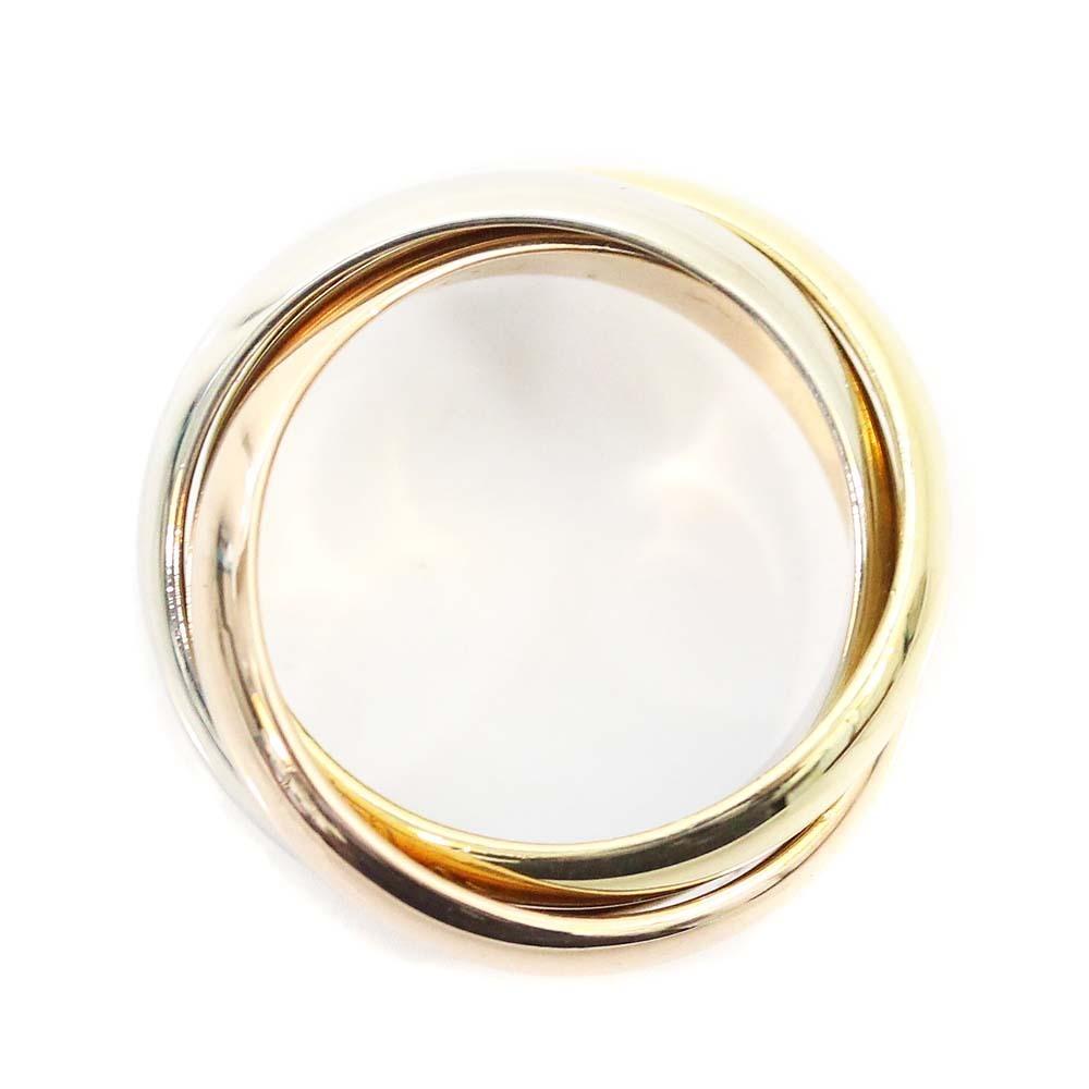 即決 カルティエ トリニティ リング・指輪 レディース K18ゴールド ジュエリー 8号 ホワイトゴールド ピンクゴールド イエローゴールド_画像3
