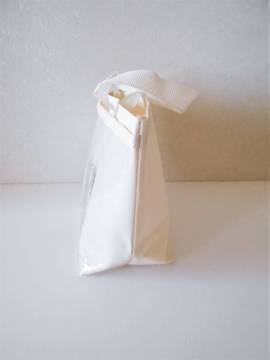 ■未使用■前が透明ポケット アレンジ・トートバッグ/手提げ ハンドメイド用に・・バッジ・ぬいぐるみ・ポスター ☆エコバッグ 白色_画像2