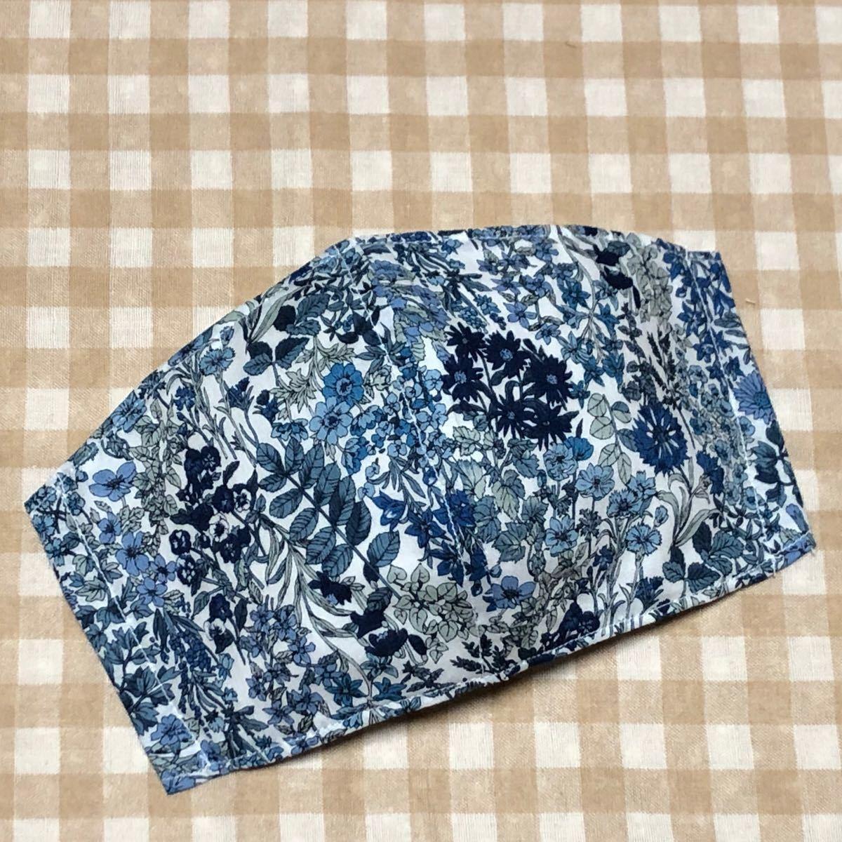 ★とれ様専用〜ハンドメイド・ブルー系&ネイビー系×ボタニカル柄カバー×4枚セット