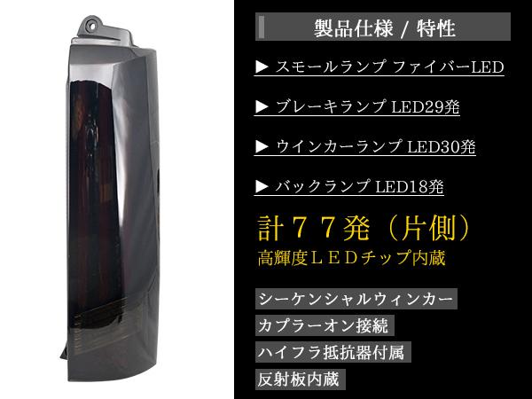 【TRISTAR'S】エブリイワゴンDA64W シーケンシャルウインカーファイバーLEDテールランプ インナーブラックスモークレンズ 流れるウインカー_画像5