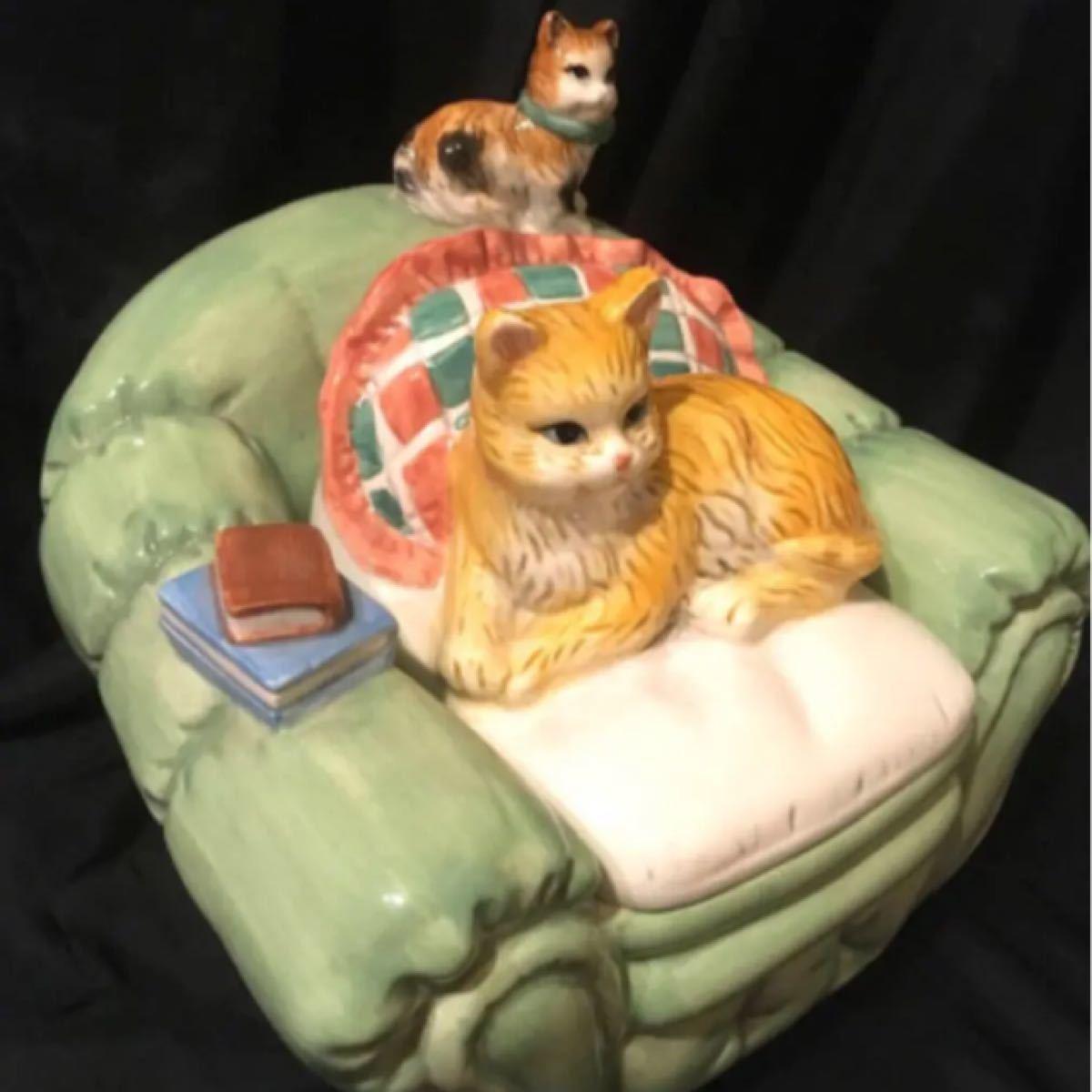 猫 イタリア製 陶器 小物入れ 飾り 猫雑貨 猫グッズ 猫物 猫置物 インテリア