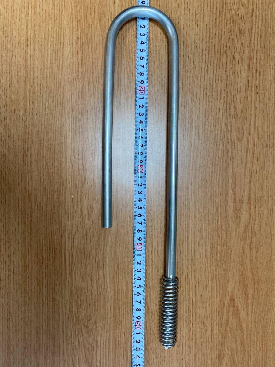 外部式フィルターの吸水、排水管のセット(316LBA管1mm厚使用)