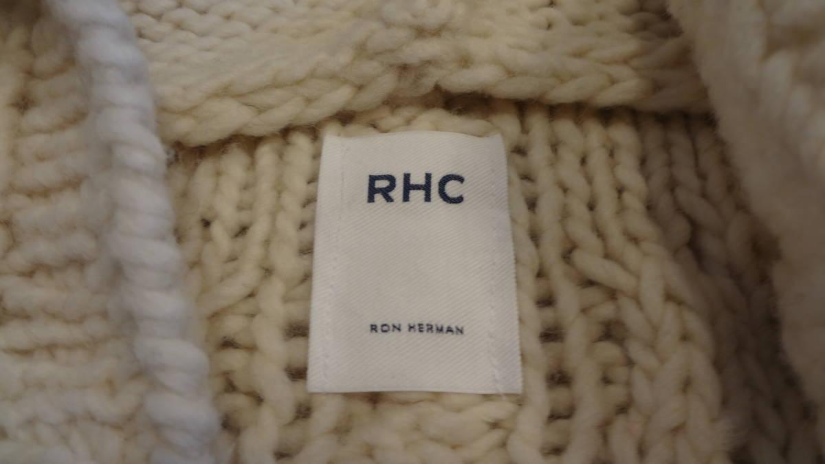 ほぼ新品 Ron Herman/RHC ロンハーマン ローゲージケーブルニット ジップフードカーディガン _画像5