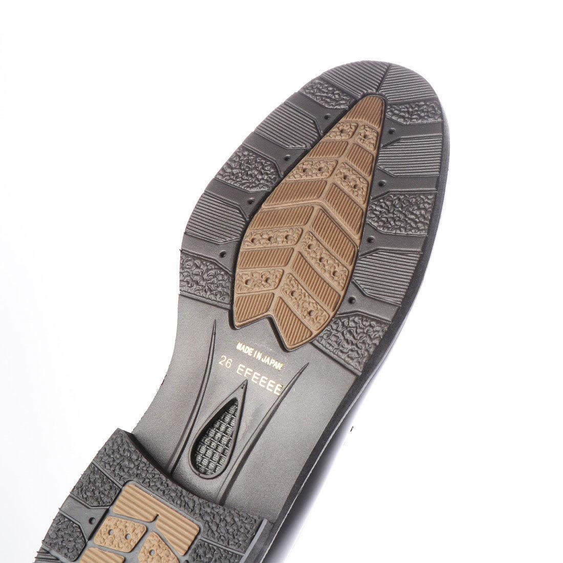 【大きいサイズ】【メンズ 】【超幅広】【激安】紳士靴 本革 甲高 6E G キングサイズ ビジネスシューズ ローファー ブラック 28.5cm