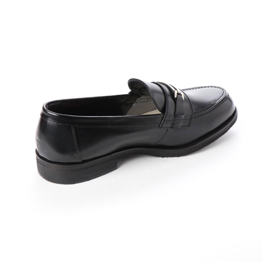 【大きいサイズ】【メンズ 】【超幅広】【激安】紳士靴 本革 甲高 6E G キングサイズ ビジネスシューズ ビットローファー ブラック 27.0cm