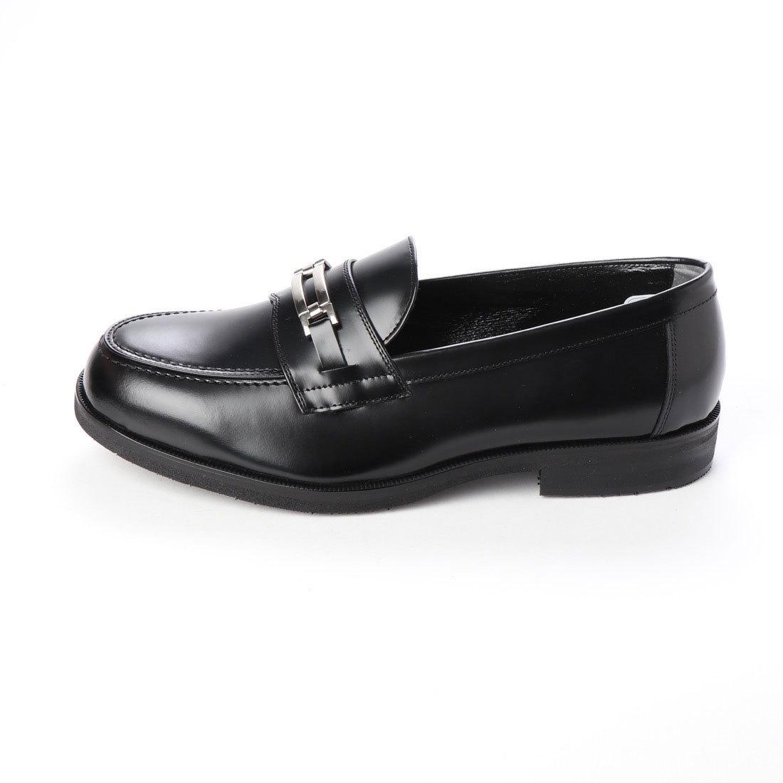 【大きいサイズ】【メンズ 】【超幅広】【激安】紳士靴 本革 甲高 6E G キングサイズ ビジネスシューズ ビットローファー ブラック 27.5cm
