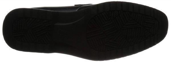 【アウトレット】【防水】【コスパ】【安い】メンズ ビジネスシューズ 紳士靴 革靴 Wilson ウィルソン 282 ローファー ブラック 黒 26.5cm