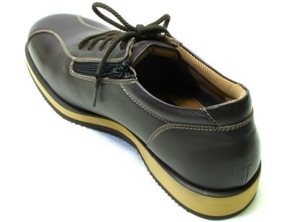 【大きいサイズ】【安い】メンズ ビジネス ウォーキングシューズ 紳士靴 革靴 本革 ビブラムソール 8661 紐 ダークブラウン 28.0cm