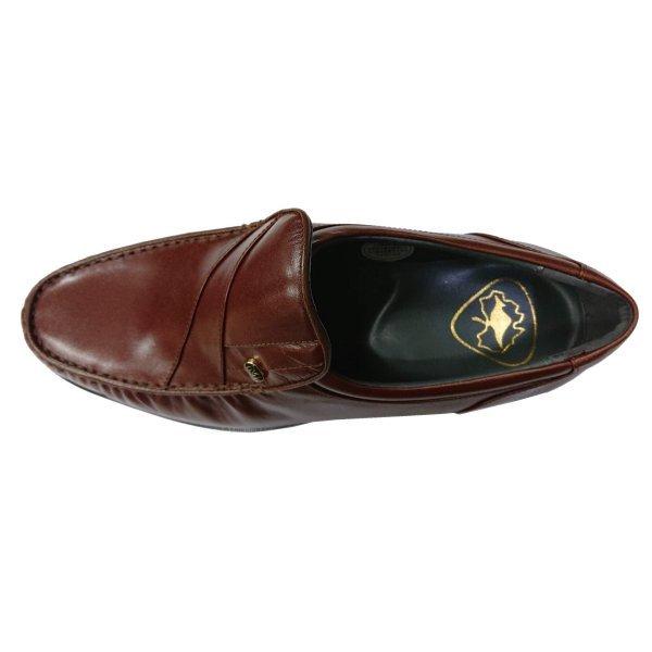【アウトレット】【安い】【カンガルー革】【日本製】メンズ ビジネスシューズ モカシン 紳士靴 革靴 492 ブラウン 茶 25.5cm