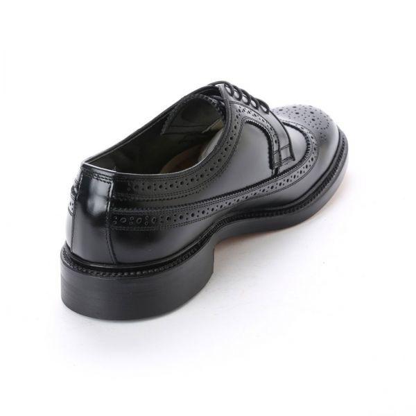 【宮城興業】【リーガル 外注工場】【レザーソール】紳士靴 革靴 メンズ ビジネスシューズ ウィングチップ 5156 ブラック 黒 24.0cm