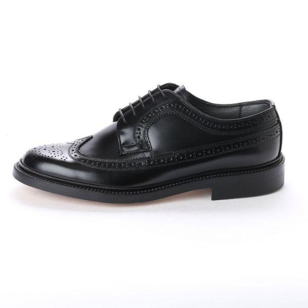 【宮城興業】【リーガル 外注工場】【レザーソール】紳士靴 革靴 メンズ ビジネスシューズ ウィングチップ 5156 ブラック 黒 26.0cm