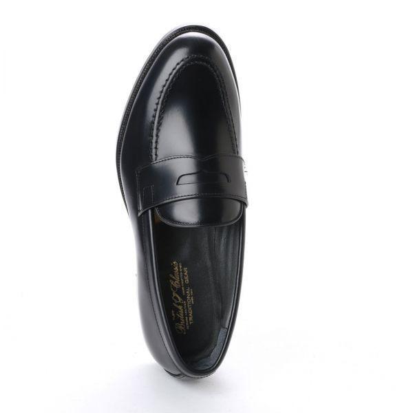 【アウトレット】【リーガル 外注工場】【レザーソール】紳士靴 革靴 メンズ ビジネスシューズ ローファー 5158 ブラック 26.5cm