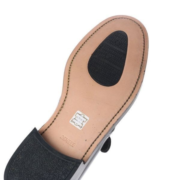 【宮城興業】【リーガル 外注工場】【レザーソール】紳士靴 革靴 メンズ ビジネスシューズ モンク ベルト 5157 ブラック 黒 24.5cm