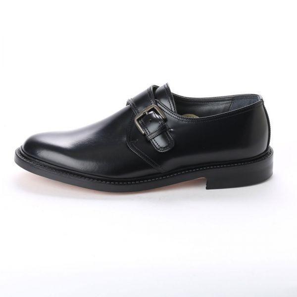 【宮城興業】【リーガル 外注工場】【レザーソール】紳士靴 革靴 メンズ ビジネスシューズ モンク ベルト 5157 ブラック 黒 25.5cm