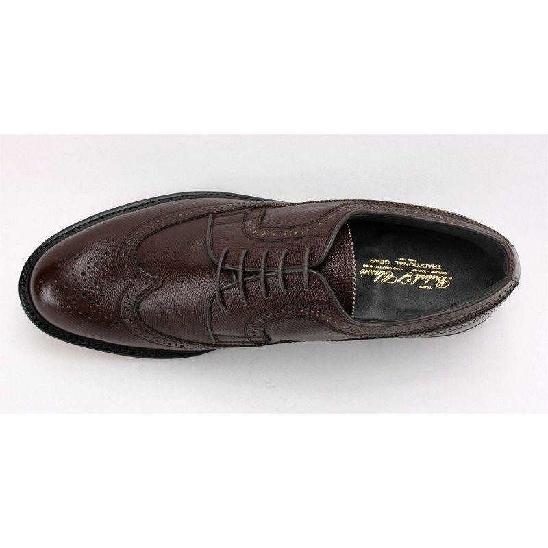 【宮城興業】【リーガル 外注工場】【レザーソール】紳士靴 革靴 メンズ ビジネスシューズ ウィングチップ 5154 ダークブラウン 25.0cm