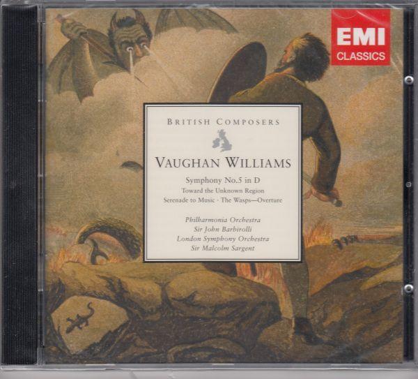 [CD/Emi]ヴォーン・ウィリアムズ:交響曲第5番ニ長調他/J.バルビローリ&フィルハーモニア管弦楽団 1962他_画像1
