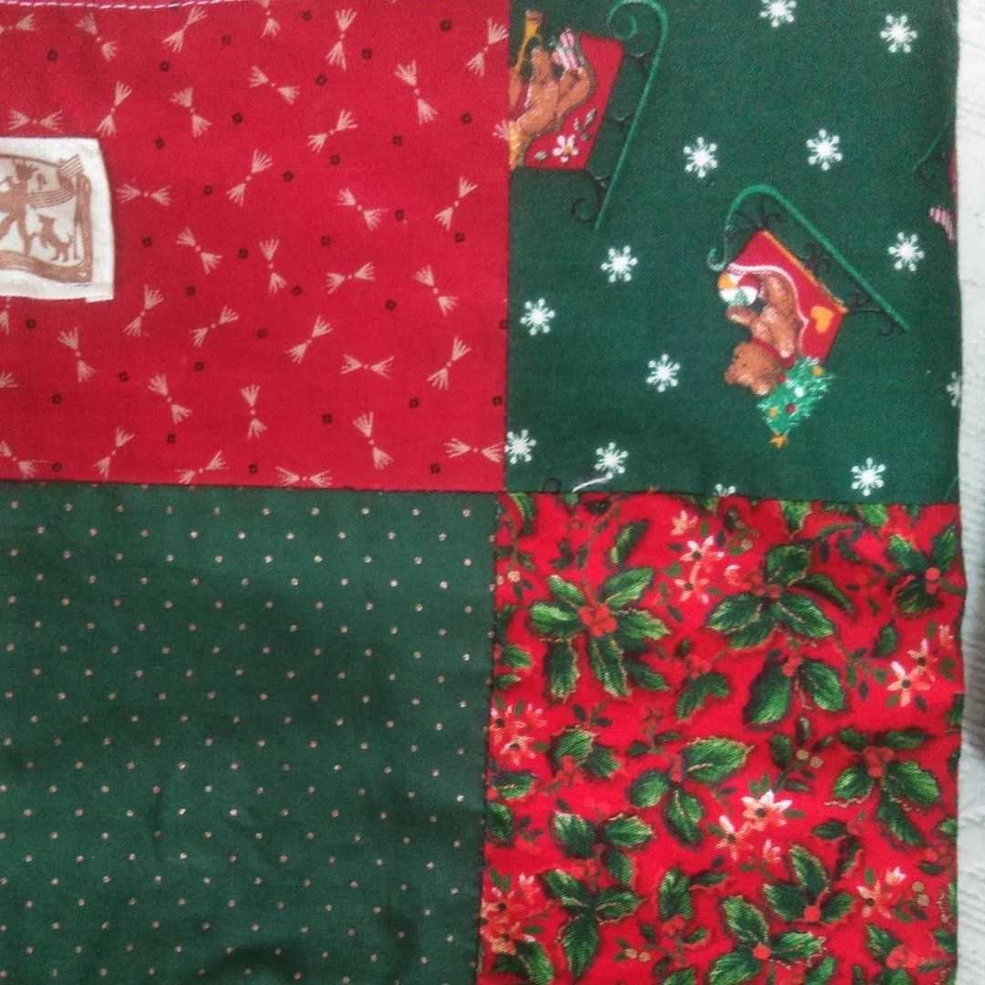 クリスマスカラー☆パッチワークトートバッグ☆ハンドメイド
