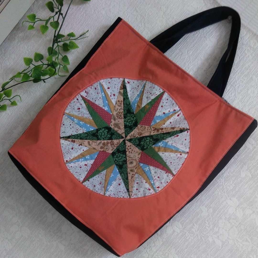パッチワークトートバッグ☆ベツレヘムの星☆ハンドメイド