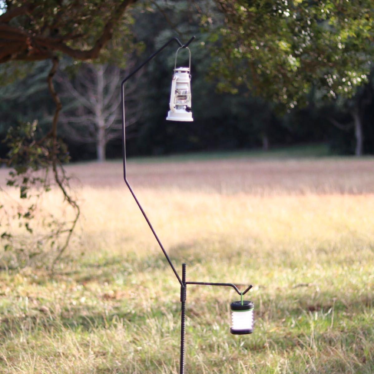 3点セット ランタンスタンド ランタンハンガー キャンプ ソロキャンプ