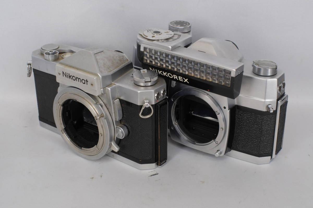 Nikon ニコン ニコマート Ftn ニコレックス メーター付き (稼働品) 中古 現状 ジャンク 2台セット ( マニュアル 一眼レフ フィルム カメラ