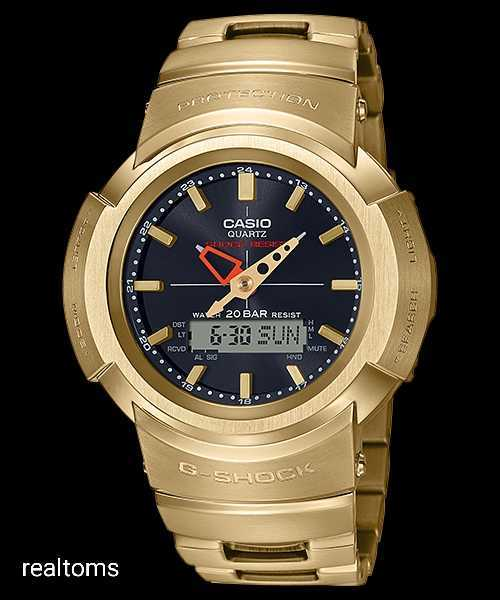 新品未使用 国内正規品 CASIO G-SHOCK AWM-500GD-9AJF ゴールド 定価74800円 アナデジ ジーショック 腕時計 カシオ メタルバンド_画像1