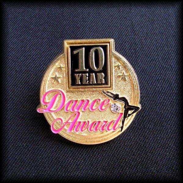 USA 10YEAR Dance Award PIN ダンス ピンバッジ ジャズダンス バレエ アメリカ No 49