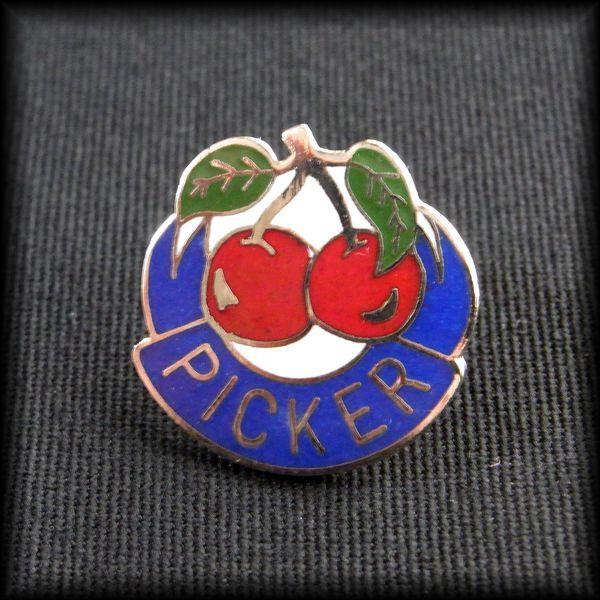 USA BOWLING PIN ボウリングピンバッジ PICKER チェリー サクランボ No 54